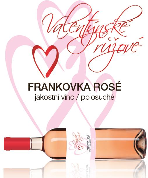 Valentýnské růžové Frankovka rosé 2013
