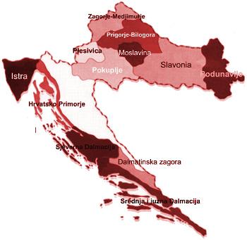 Vinařské oblasti Chorvatska