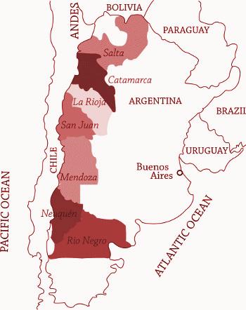 Vinařské oblasti Argentiny