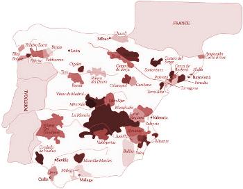 Vinařské oblasti Španělsko