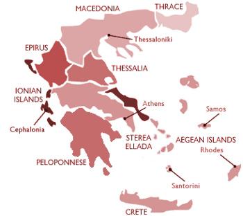 Vinařské oblasti Řecka