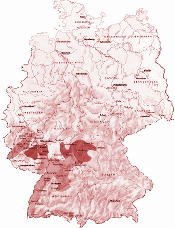 Vinařské oblasti Německa