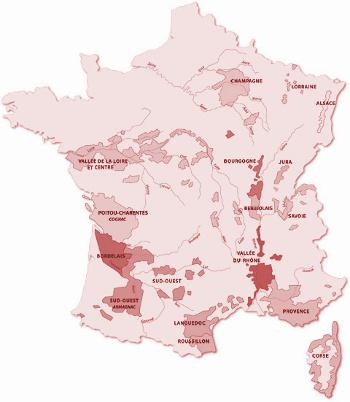 Vinařské oblasti Francie