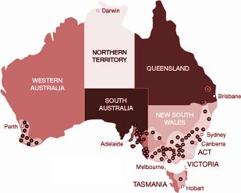 Vinařské oblasti Austrálie