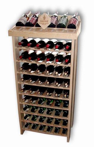 Stojan na víno ST60 - přírodní dřevo