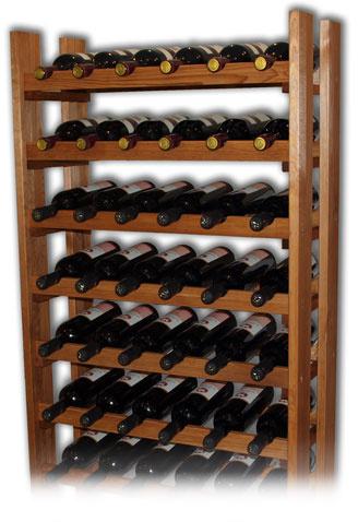 Regál na víno RE48 - přírodní dřevo