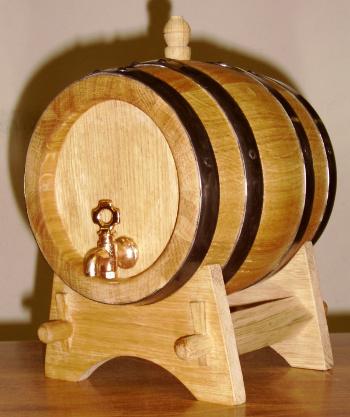 Dubový soudek na víno o objemu 1l