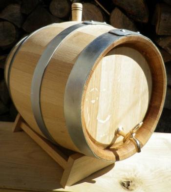 Dubový soudek na víno o objemu 25 l