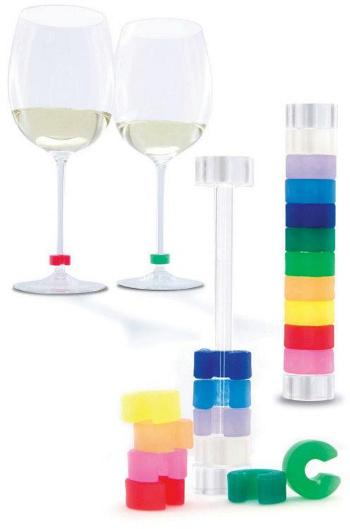 Rozlišovač na skleničky 10 ks -Glass Identity Set of 10 glass -  Pulltex