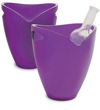 Chladič na víno-sekt žlutá - PWC ICE BUCKET purple Pulltex