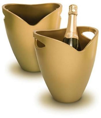 Chladič na víno-sekt zlatá - PWC ICE BUCKET gold Pulltex