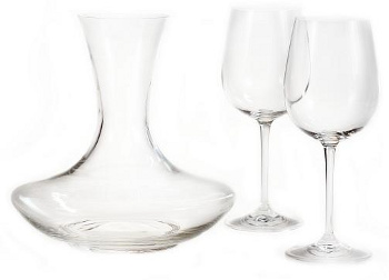 Dárkový set - RONA - 1 ks karafa + 2 ks sklenice na víno