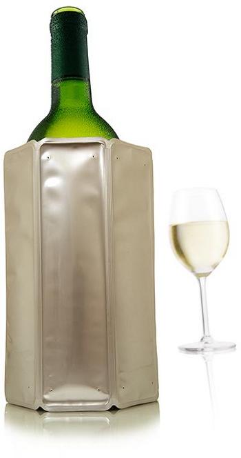 Rychle chladící obal na víno Chrom - VacuVin