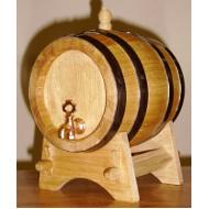 Dřevěný dubový soudek 1 l