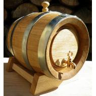 Dřevěný dubový soudek 3 l