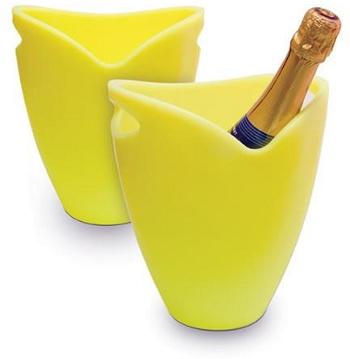 Chladič na víno a sekt žlutý