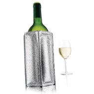 Chladič na víno stříbrný VacuVin