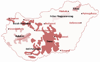 Vinařské oblasti Maďarsko