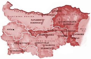 Vinařské oblasti Bulharska