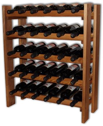 Regál na víno RE30 - přírodní dřevo