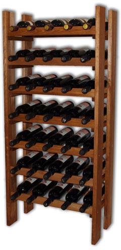 Regál na víno RE35 - přírodní dřevo