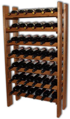 Regál na víno RE42 - přírodní dřevo