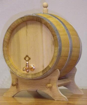 Akátový soudek na alkohol o objemu 10 l