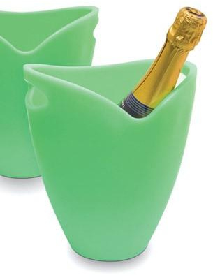 Chladič na víno-sekt žlutá - PWC ICE BUCKET green apple