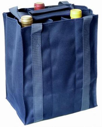 Taška na 6 láhví vína modrá