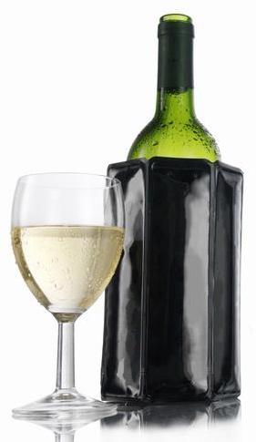 Chladící obal černý - RI Wine Cooler Black - VacuVin