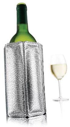 Rychle chladící obal stříbrný na láhev vína - VacuVin