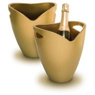 Chladič na víno a sekt zlatý